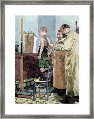 Wilhelm Conrad Rontgen (1845-1923 Framed Print by Prisma Archivo