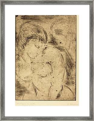 Wilhelm Lehmbruck, Womans Dream Der Traum Des Weibes Framed Print by Quint Lox