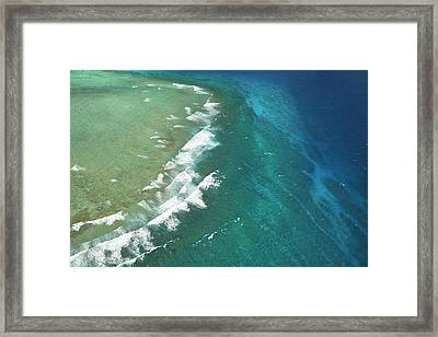 Wilkes Pass Surf Break, Near Namotu Framed Print