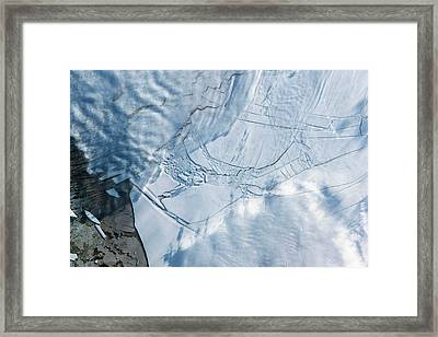 Wilkins Ice Shelf Framed Print by Nasa