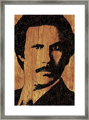 Will Ferrell Anchorman Ron Burgundy On Simulated Simulated Wood Framed Print