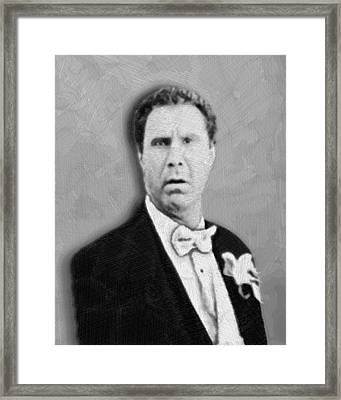 Will Ferrell Old School  Framed Print by Tony Rubino