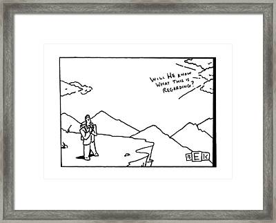 'will He Know What This Is Regarding?' Framed Print