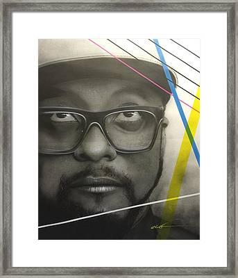 Will.i.am Power Framed Print