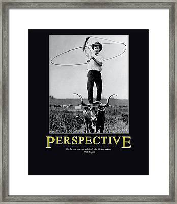 Will Rogers Perspective Framed Print by Retro Images Archive