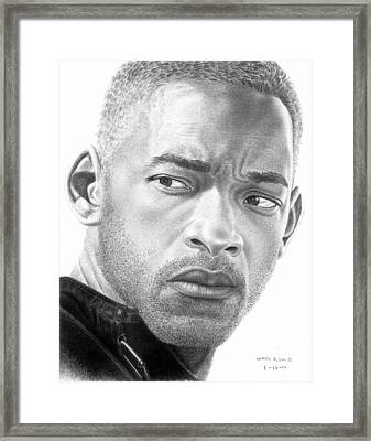 Will Smith Framed Print by Marvin Lee