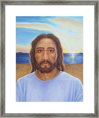 Will You Follow Me - Jesus Framed Print by Michele Myers