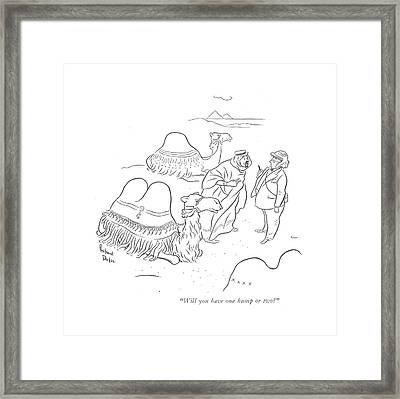 Will You Have One Hump Or Two? Framed Print