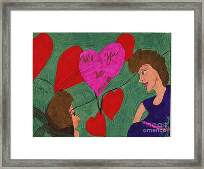Will You Be Mine Framed Print