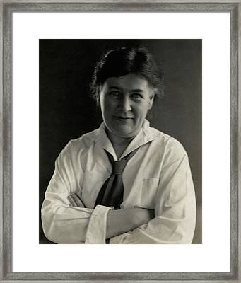 Willa Cather Wearing A Tie Framed Print