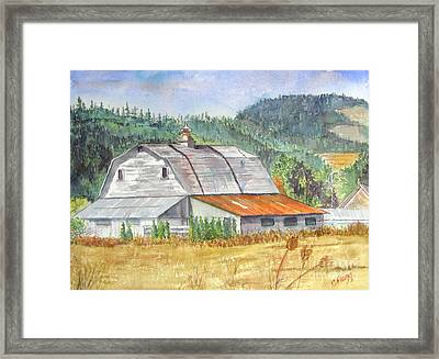Framed Print featuring the painting Willamette Valley Barn by Carol Flagg
