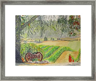Willamette Valley Winery Framed Print