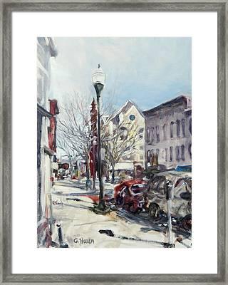 Willamsport Streetscape Winter Framed Print