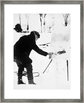 Willard Metcalf (1858-1925) Framed Print