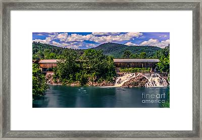 Willard Twin Bridge. Framed Print