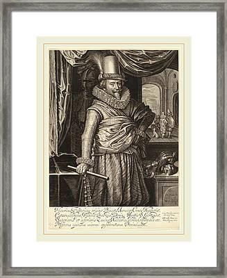 Willem Jacobsz Delff Dutch, 1580-1638, Frederik Hendrik Framed Print by Litz Collection
