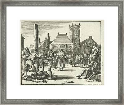 Willem Jansz. Climbs The Pyre, Amsterdam The Netherlands Framed Print