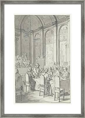 Willem V Shows The Papers Of Laurens, 1780 Framed Print