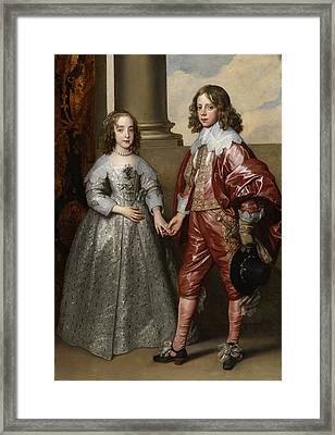 William And His Bride Mary Stuart Framed Print