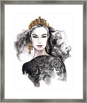William And Kate Framed Print by Elina Sheripova