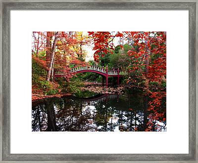 William And Mary College  Crim Dell Bridge Framed Print