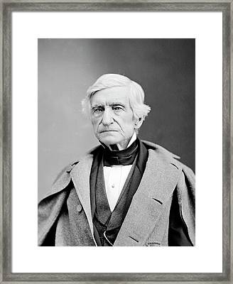 William Barton Rogers Framed Print by Library Of Congress