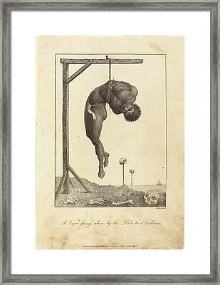William Blake After John Gabriel Stedman British Framed Print by Quint Lox