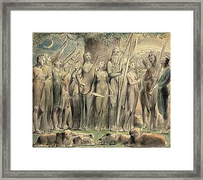William Blake British, 1757 - 1827, Job And His Family Framed Print