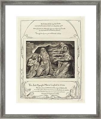 William Blake British, 1757 - 1827, Job Rebuked Framed Print