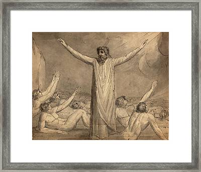 William Blake, British 1757-1827, Moses Staying The Plague Framed Print