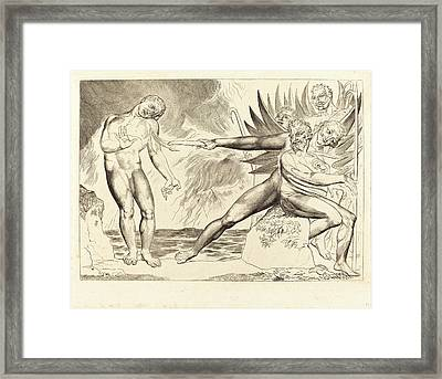 William Blake, British 1757-1827, The Circle Of The Corrupt Framed Print