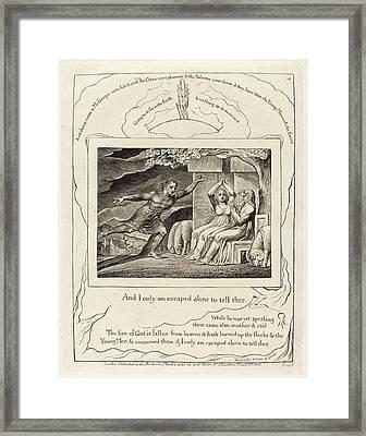 William Blake British, 1757 - 1827, The Messengers Tell Job Framed Print
