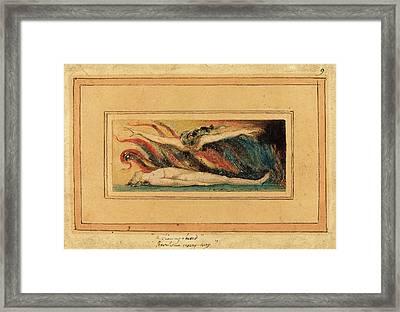 William Blake British, 1757 - 1827, The Soul Hovering Framed Print