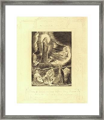 William Blake, British 1757-1827, The Vision Of Eliphaz Framed Print