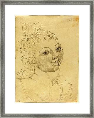 William Blake, British 1757-1827, Wat Tylers Daughter Framed Print