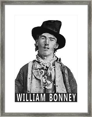 William Bonney A K A Billy The Kid Framed Print