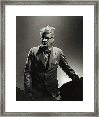 William Butler Yeats Wearing A Three-piece Suit Framed Print