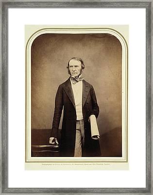 William Ewart Gladstone Framed Print by British Library