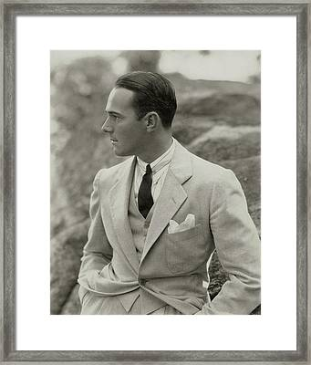 William Haines Wearing A Three-piece Suit Framed Print by Edward Steichen