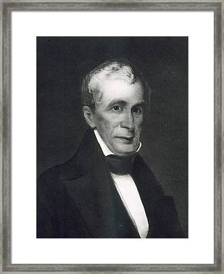 William Henry Harrison Framed Print by Eliphalet Frazer Andrews