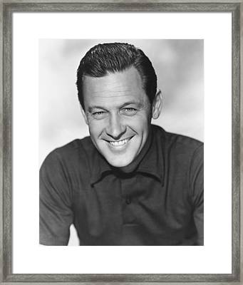 William Holden Framed Print by Silver Screen