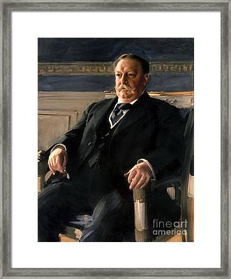 William Howard Taft Framed Print by Anders Zorn