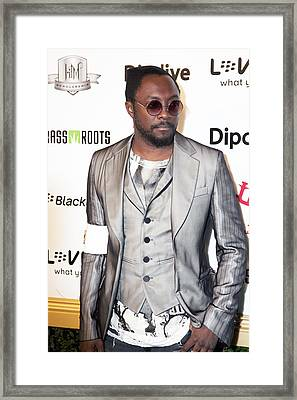 Will.i.am Framed Print