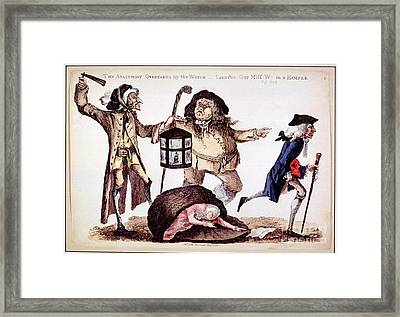 William Hunter And Body Snatching, 1773 Framed Print by National Library Of Medicine