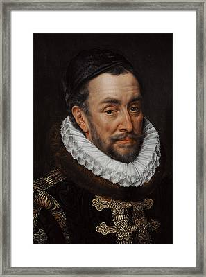 William I, Prince Of Orange 1533-1584, C. 1579, By Adriaen Thomasz Key C.1544-1589 Framed Print by Bridgeman Images