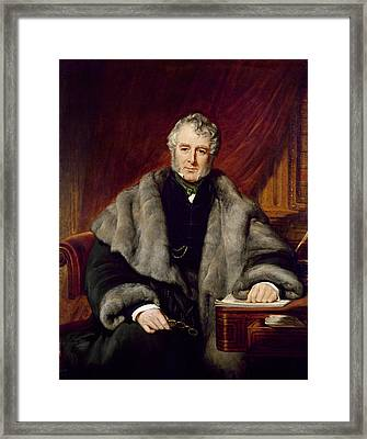 William Lamb, 2nd Viscount Melbourne, 1844 Oil On Canvas Framed Print by John Partridge