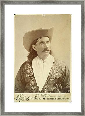 William Levi 'buck' Taylor (1857-1924) Framed Print by Granger