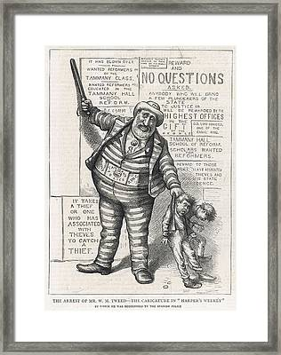 William Marcy Tweed (1823 - 1878) Known Framed Print by  Illustrated London News Ltd/Mar
