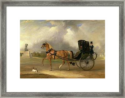 William Massey-stanley Driving His Cabriolet In Hyde Park Framed Print by Litz Collection