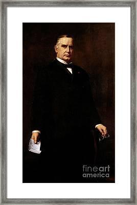William Mckinley Framed Print